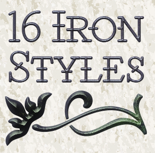16 Iron Metallic Layer Styles Thumbnail