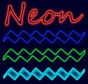 5 Neon Effect Layer Styles Thumbnail