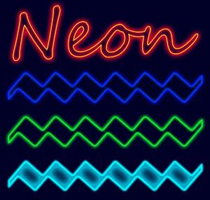 5 Neon Effect Layer Styles Thumbnail