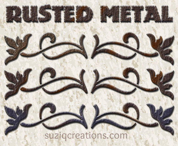 Rusted Metal Layer Styles Preview