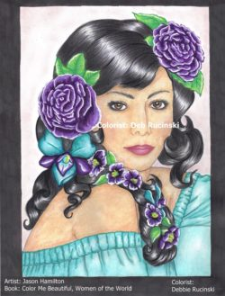 Color Me Beautiful-Women of the World colored by Deb Rucinski