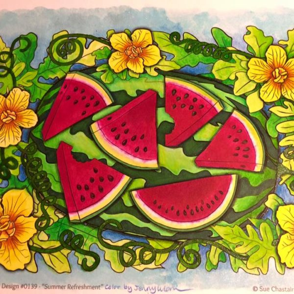 Summer Refreshment colored by Jenny Luan Frye