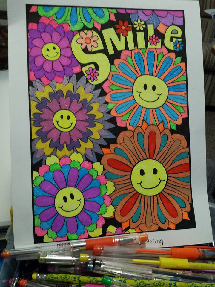 """Smile"" colored by Jessica Rogers"