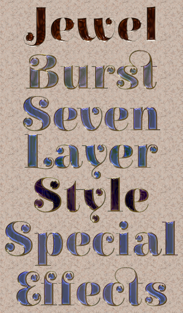 Jewel Burst Layer Styles Preview