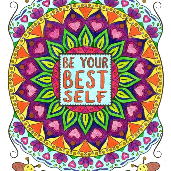 """Be Your Best Self"" colored by Karma Lewis"