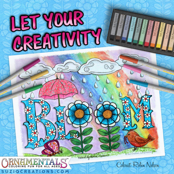 OrnaMENTALs #0103 Bloom Coloring Page