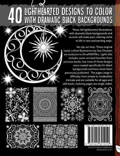 OrnaMENTALs Lights Out Coloring Book Back Cover