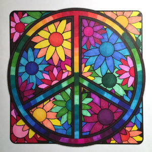Sample from MiniMENTALs On-the-Go Coloring Book, Colored by Lisa.