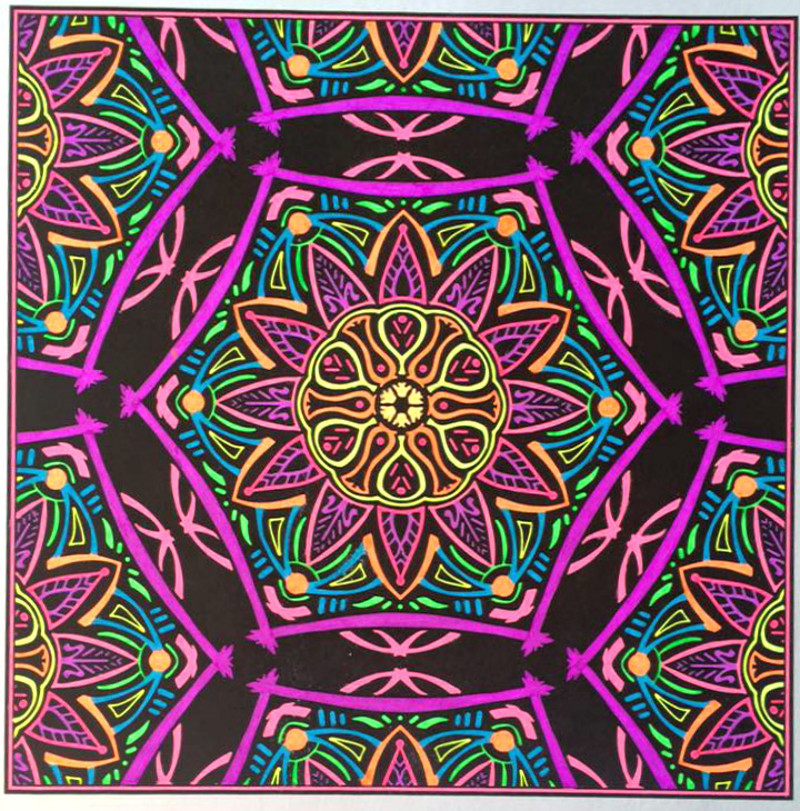 """Rotunda"" colored by Lisa Frey."