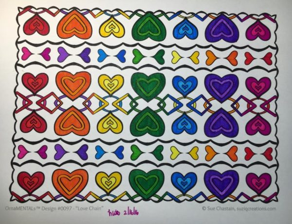 """Love Chain"" colored by Lisa Frey"