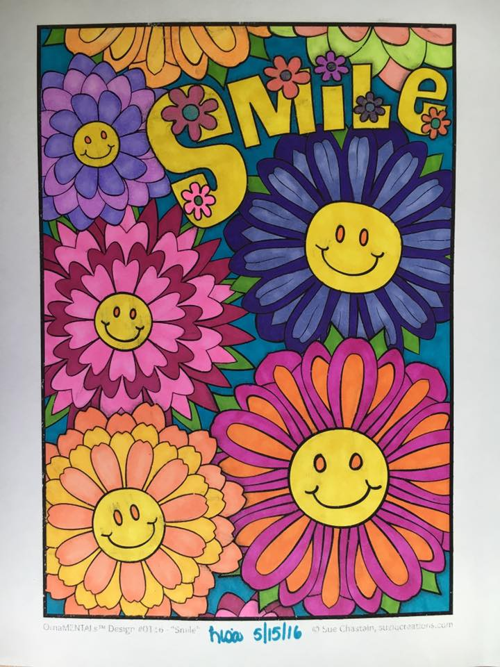 """Smile"" colored by Lisa Frey"