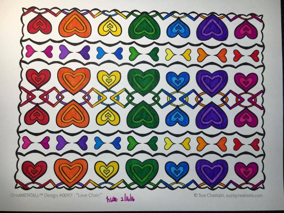 Love Chain colored by Lisa Frey