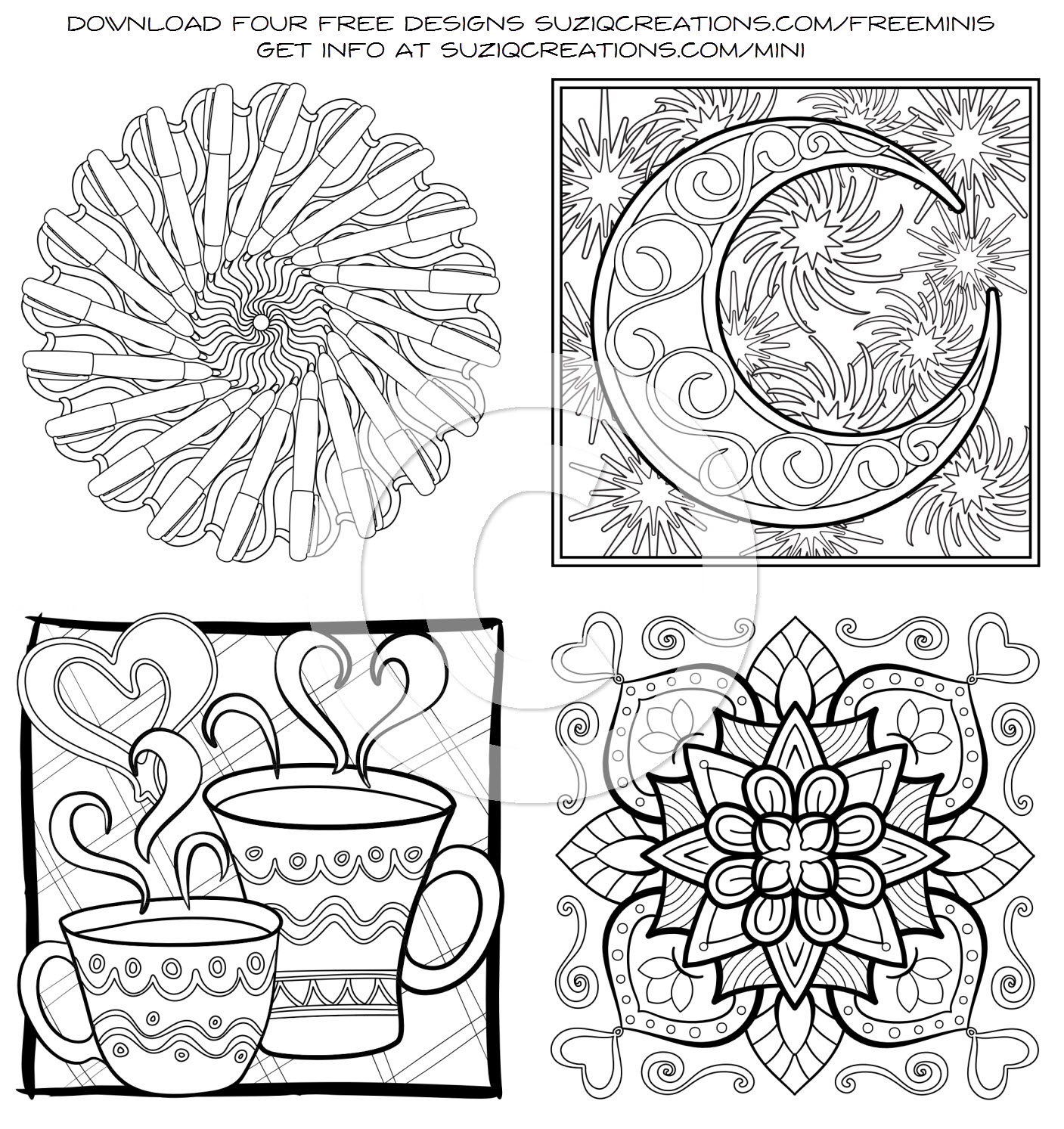 Free OrnaMENTALs Coloring Pages - SuziQ Creations