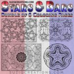 Stars and Bars Coloring Pages Bundle