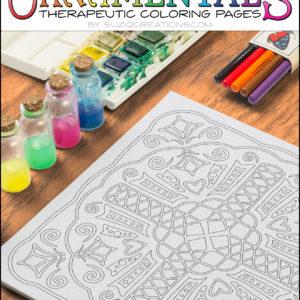 OrnaMENTALS-0005 Crisscross Coloring Page