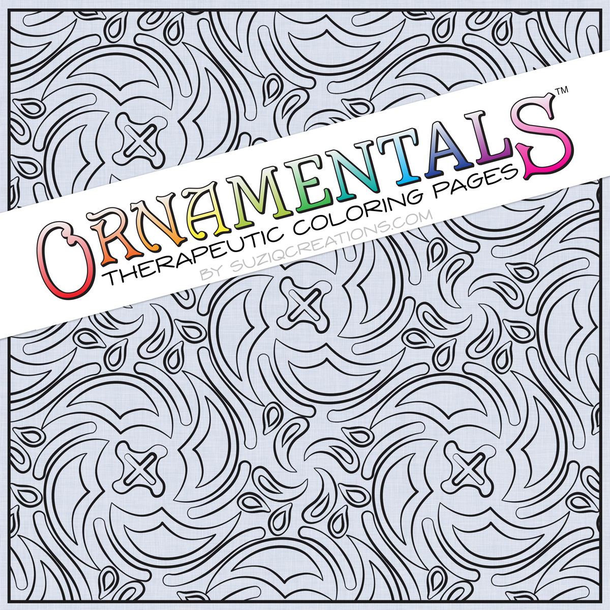 """Spin Cycle"" Coloring Page Preview - OrnaMENTALs Design # 0039"
