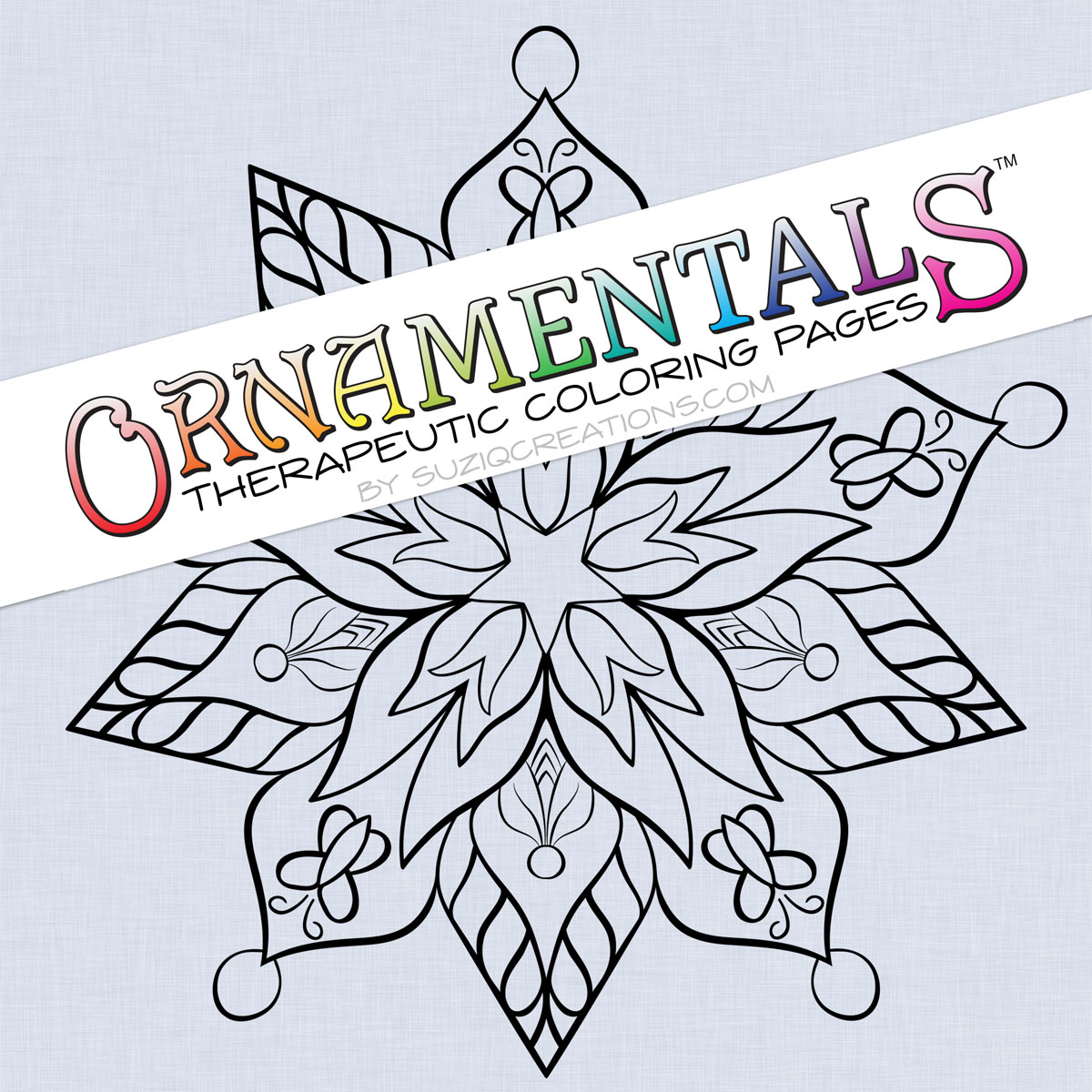 OrnaMENTALs™ Coloring Page Design 0069 Spring Renewal Preview