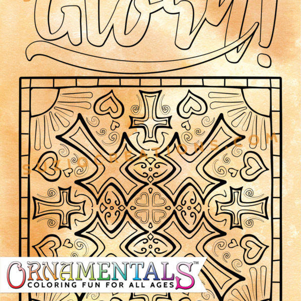 Glory in the Morning OrnaMENTALs Coloring Page Preview