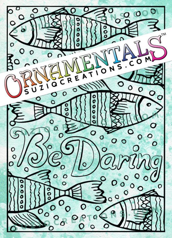 OrnaMENTALs Be Daring Coloring Page #0160