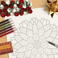 Centerpiece Coloring Page OrnaMENTALs #0012 Scene