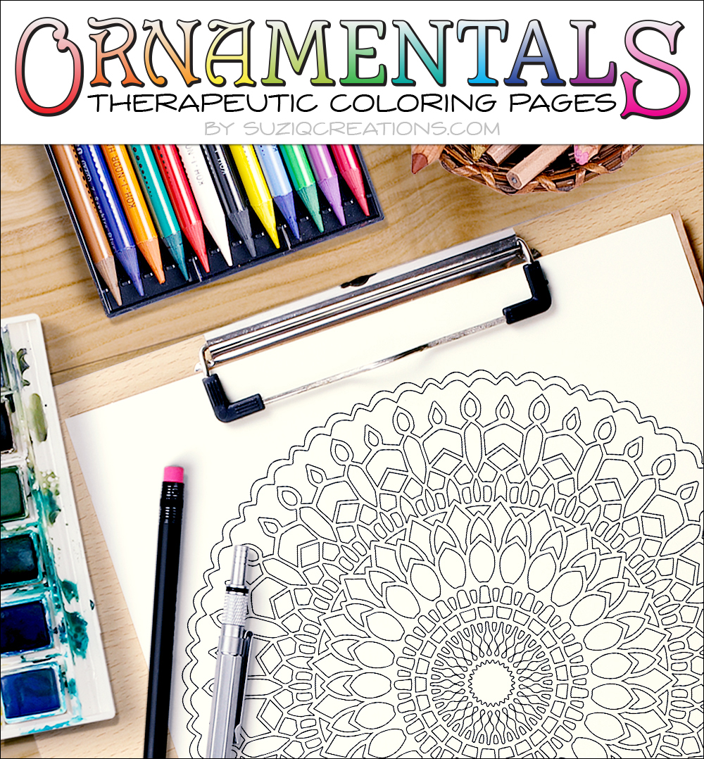 Twenty-Five Revolutions Coloring Page OrnaMENTALs #0013 Scene
