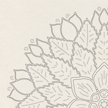 Centerpiece Coloring Page OrnaMENTALs-0012 Thumbnail