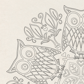 OrnaMENTALS #0014 Parliament of Owls Coloring Page Thumbnail