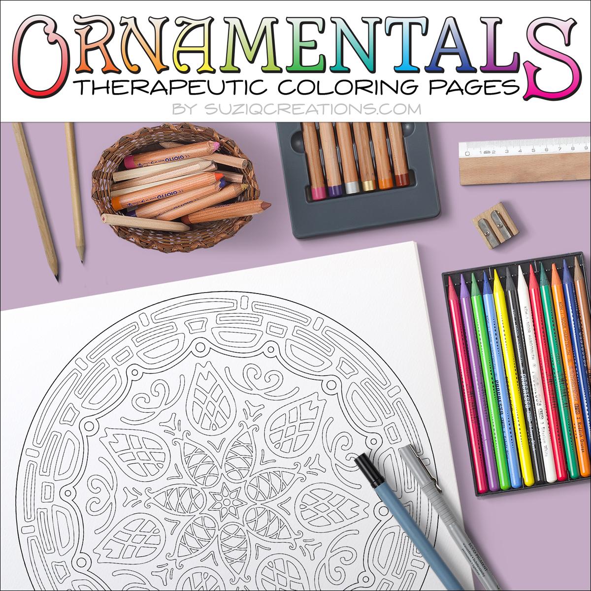 Amazing Pinecones Coloring Page OrnaMENTALs #0017 Scene