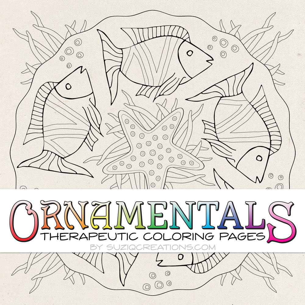 OrnaMENTALS #0023 Something Fishie Coloring Page Preview