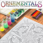 OrnaMENTALS #0023 Something Fishie Coloring Page Scene