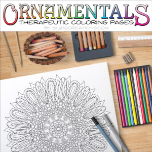 Sunflower Delight Coloring Page Scene OrnaMENTALs #0025