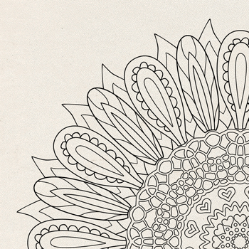 OrnaMENTALS #0025 Sunflower Delight Coloring Page Thumbnail
