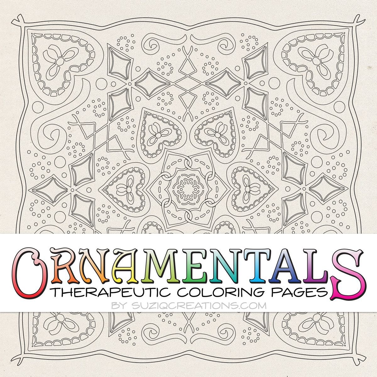 OrnaMENTALS #0027 Entwined in Love Coloring Page Preview