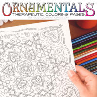 Entwined in Love Coloring Page Scene OrnaMENTALs #0027
