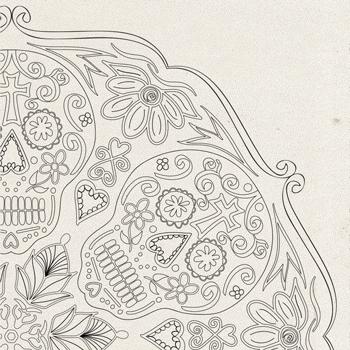 Sugar Skulls Coloring Page OrnaMENTALs #0028 Thumbnail