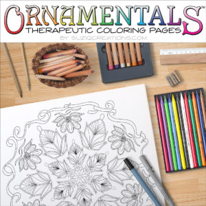 Buds and Blooms Coloring Page Scene OrnaMENTALs #0029 - FREE Sample!