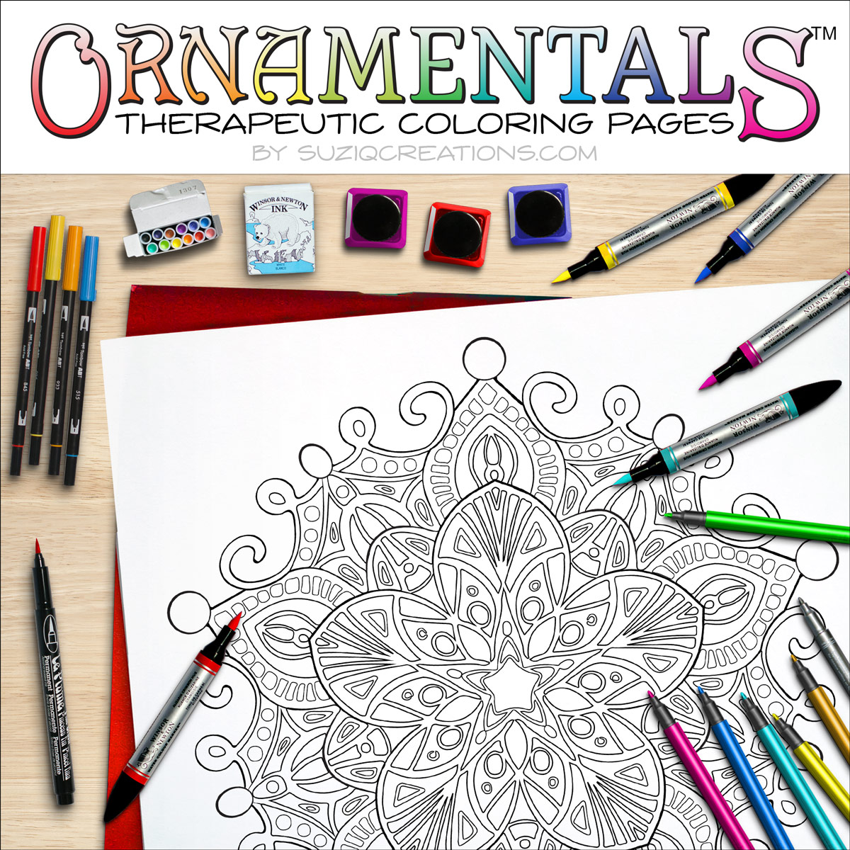 Majestic Star OrnaMENTALS #0030 Coloring Scene
