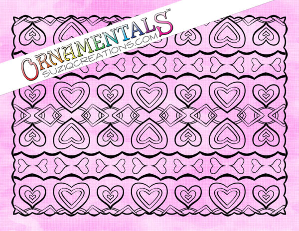 Love Chain Coloring Page - OrnaMENTALs Design #0099