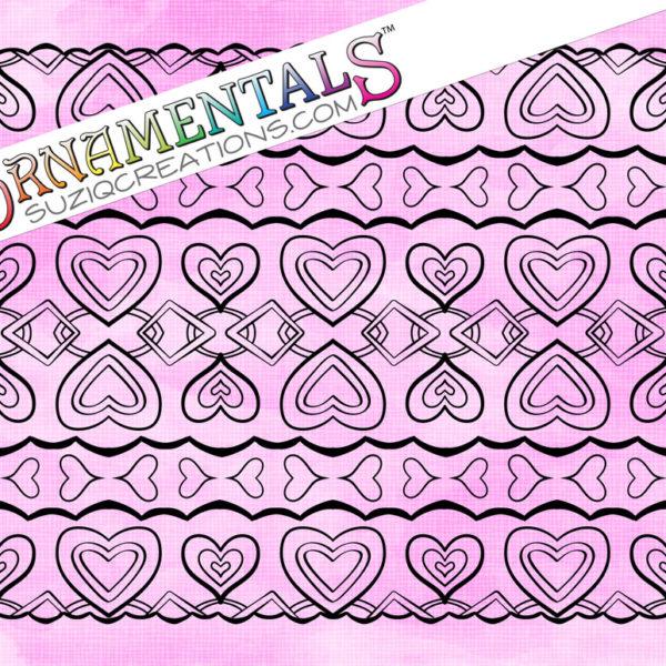 Love Chain Coloring Page - OrnaMENTALs Design #0099