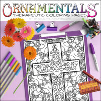 Scrollwork Cross OrnaMENTALs #0101 Coloring Page Scene