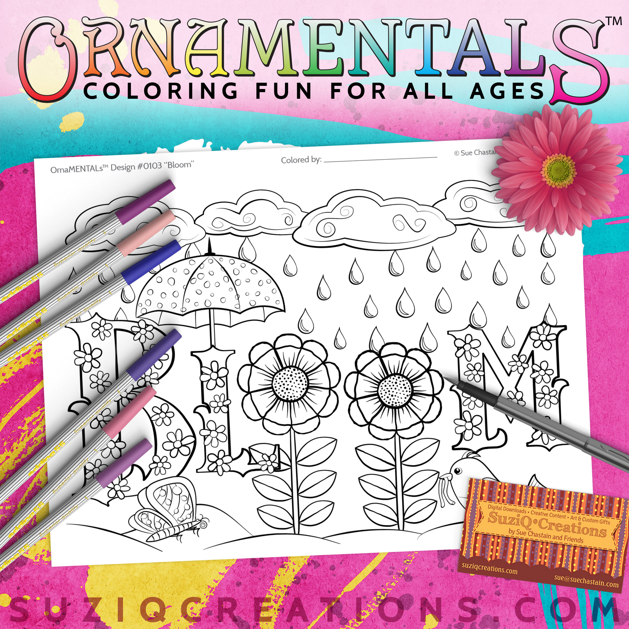 OrnaMENTALs Bloom Coloring Page #0103 Preview