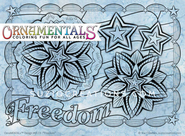OrnaMENTALs Freedom Coloring Page #0113
