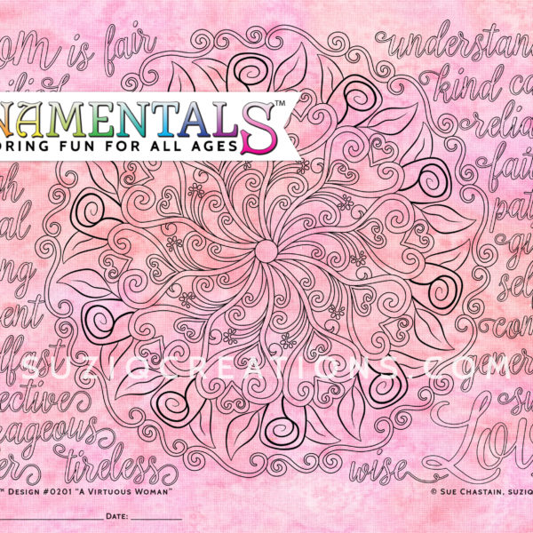 A Virtuous Woman OrnaMENTALs Coloring Page Preview