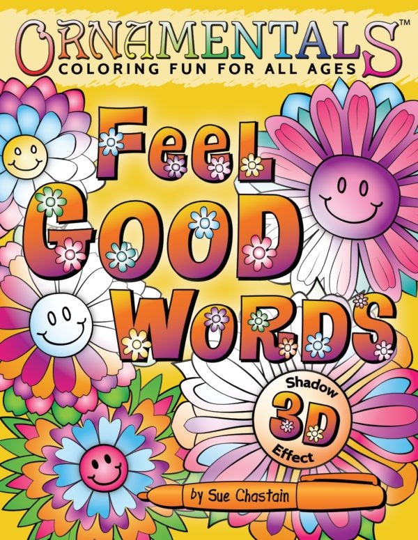 OrnaMENTALs Feel Good Words 3D Coloring Book Cover