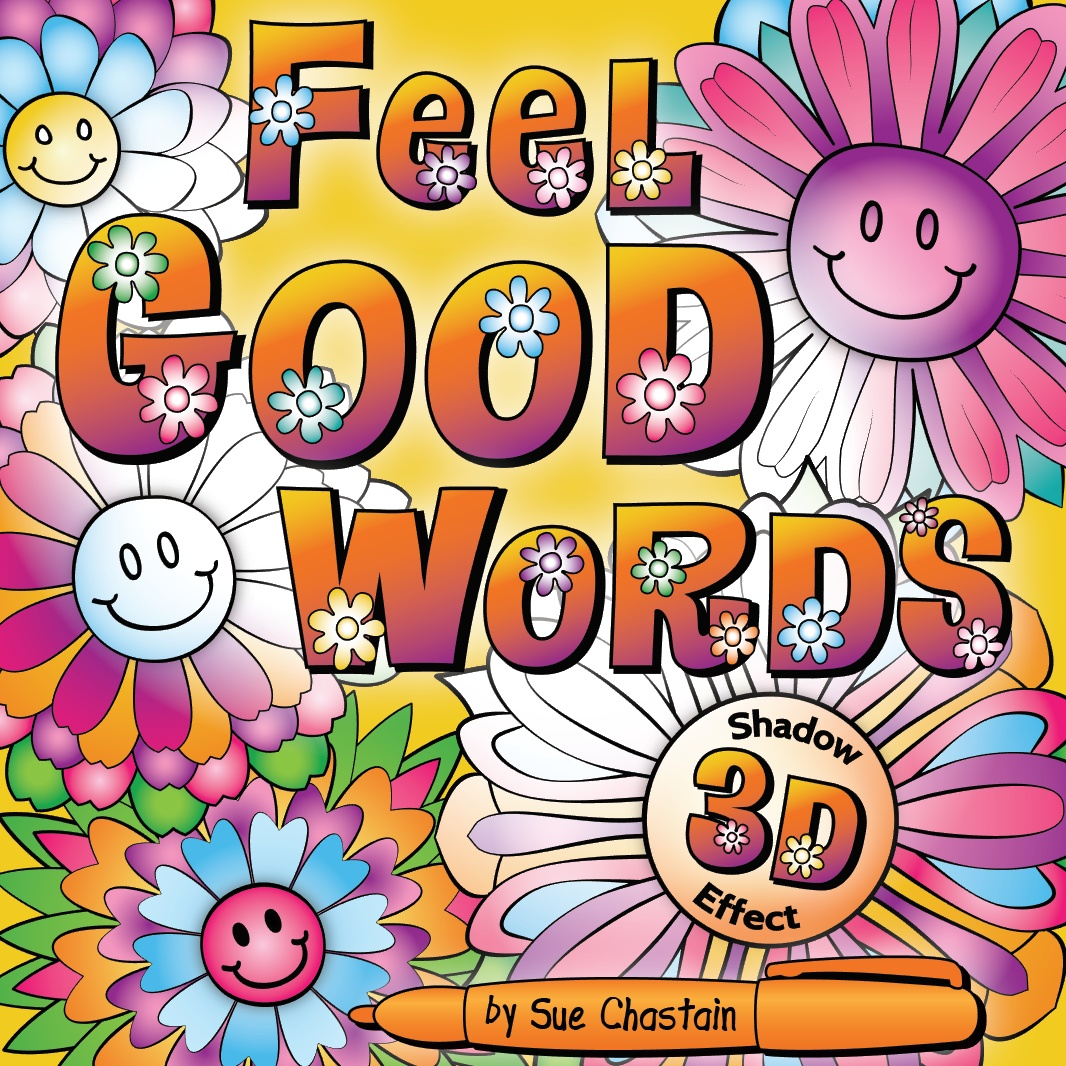OrnaMENTALs Feel Good Words Coloring Book