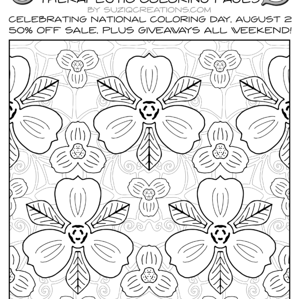 OrnaMENTALs Triple Treat Free Page for National Coloring Day Day
