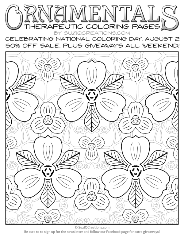 OrnaMENTALs Triple Treat Free Page for National Coloring Day