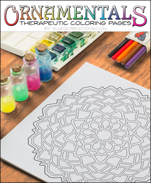 Blossom Free Coloring Page Ornamentals #0002