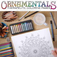 Swirling Seasons Coloring Page - Ornamentals #0009