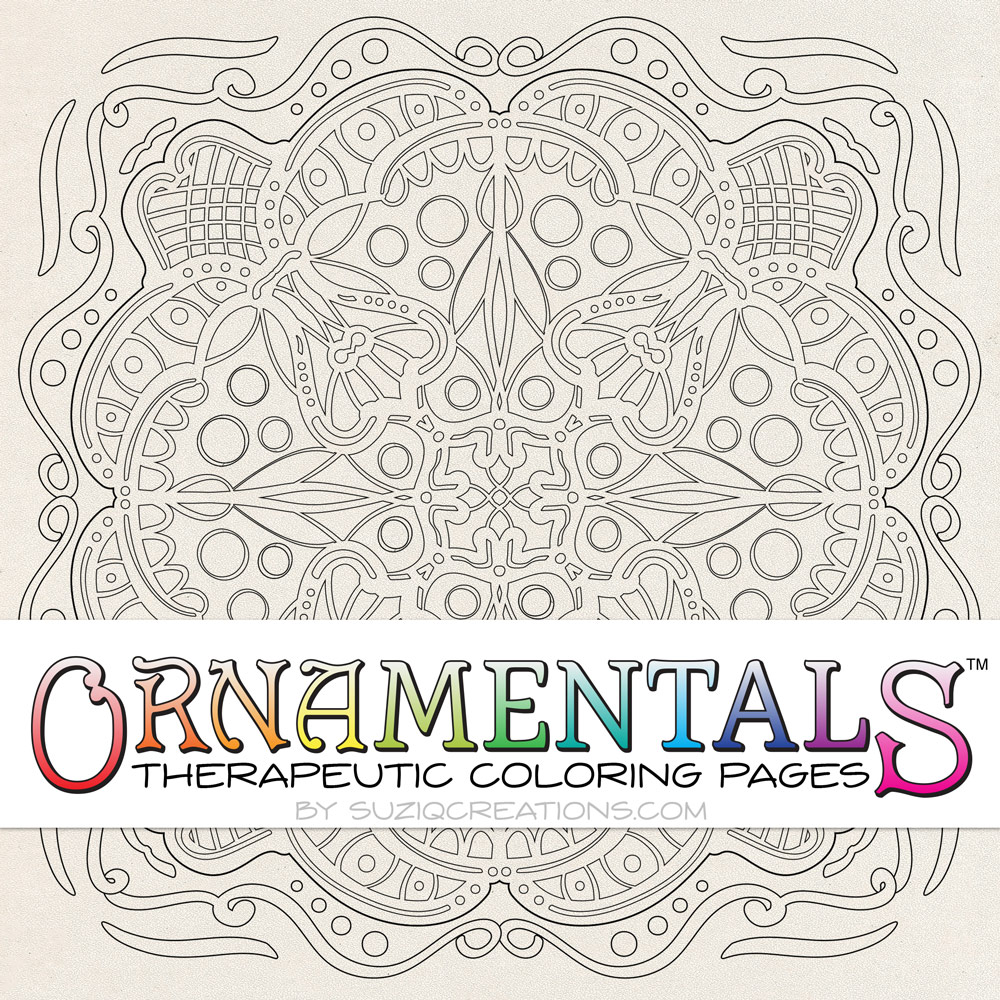 OrnaMENTALS #0031 Enchantment Coloring Page Preview